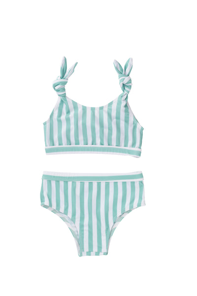 Estelle Bikini - Mint Stripe