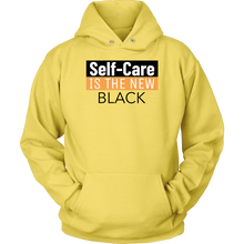 Load image into Gallery viewer, Self Care is the new Black Hoodie
