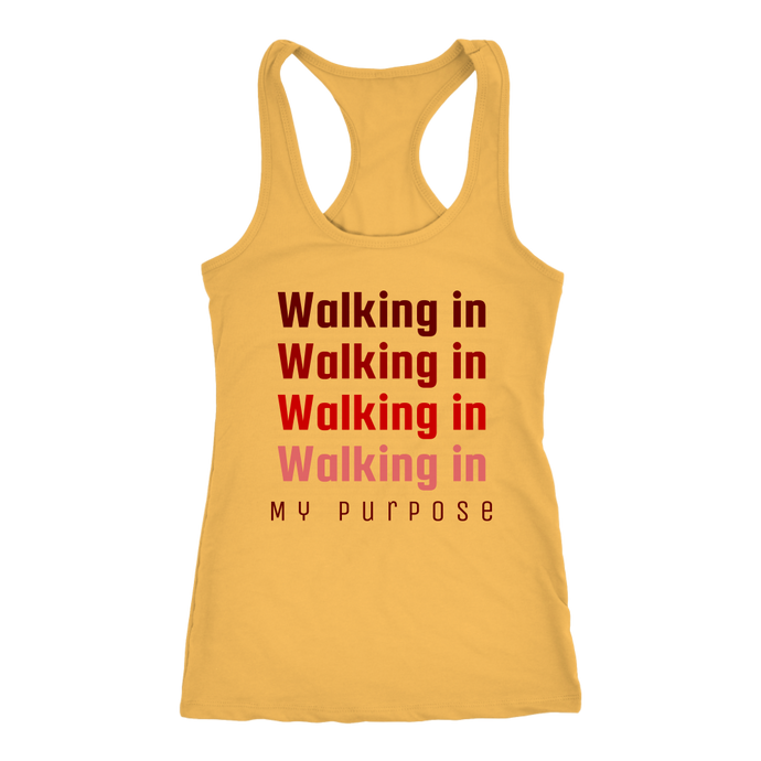 Walking in My Purpose Racerback Tank