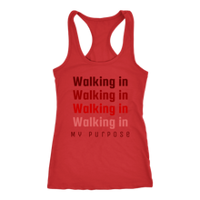 Load image into Gallery viewer, Walking in My Purpose Racerback Tank