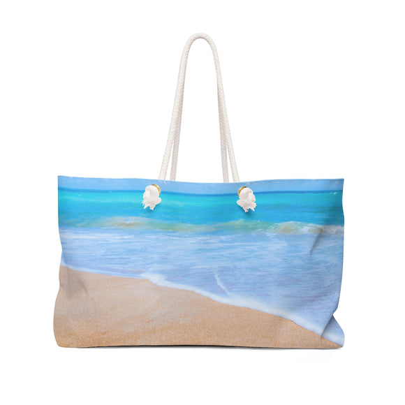 Sandy Beach Theraphina Logo on bottom Weekender Bag