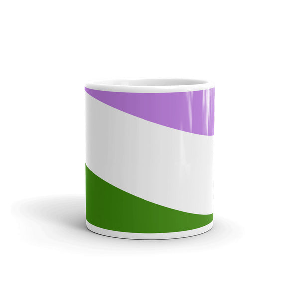 Genderqueer Pride Flag Wrap Around Design - Show Your Pride Mug For Him or Her