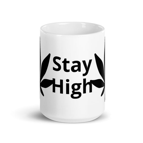 Stay High Marijuana Leaf Design Mug Gift For Him or Her