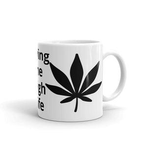 Living The High Life Marijuana Leaf Design Mug Gift For Him or He