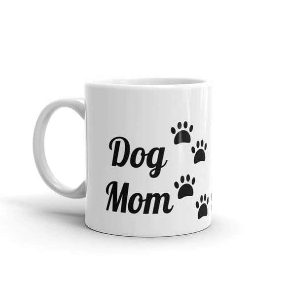 Dog Mom with Dog Paws Cute Mug for Dog Lover for Her