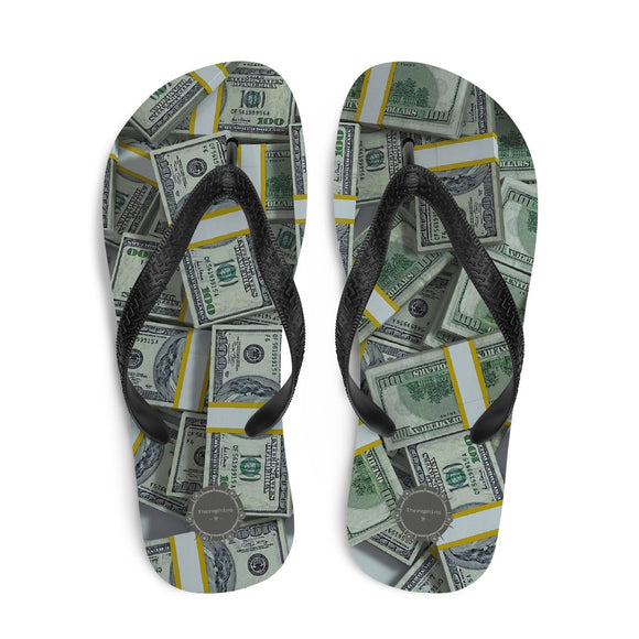 Packs Of American Money Theraphina Logo Flip-Flops