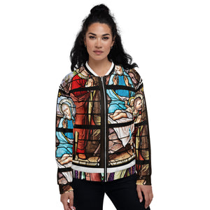 Take Me To Church Stained Glass Print Unisex Bomber Jacket