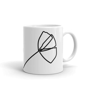 Poppy Flower One Line Minimalist Design Mug Gift For Him or Her