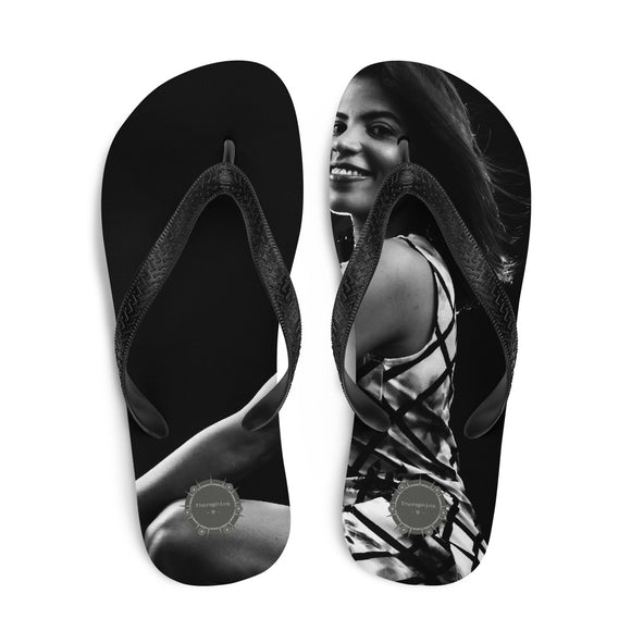 Pretty Young Lady Theraphina Logo Flip-Flops