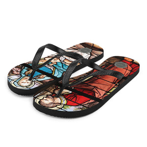 Take Me To Church Stained Glass Theraphina Logo Flip-Flops