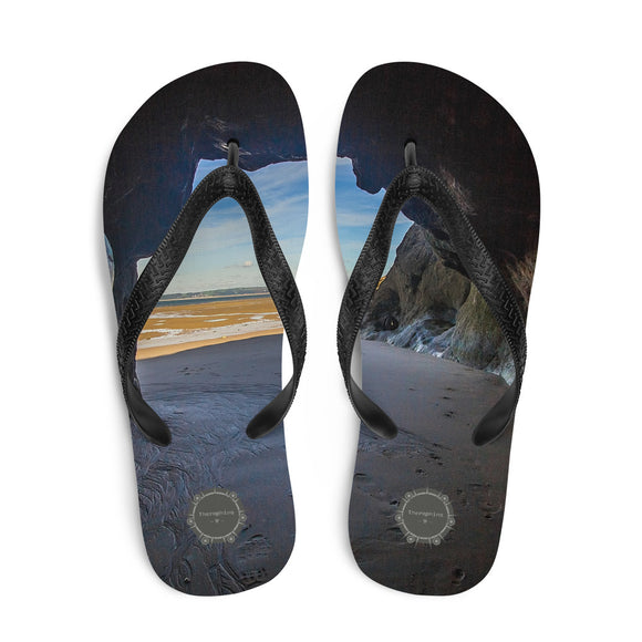 Cave Theraphina Logo Flip-Flops