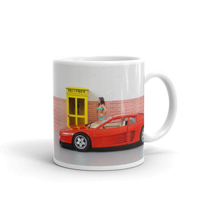 My New Girl With My New Car Text Ferrari Model Funny Gag Gift Sense of Humour Mug