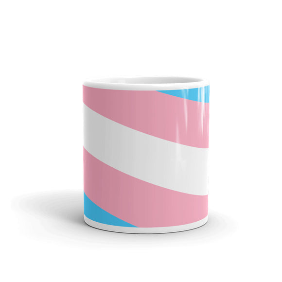 Transgender Pride Flag Wrap Around Design - Show Your Pride Mug For Him or Her