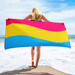 Pansexual Pride Flag Beach Towel For Him or Her