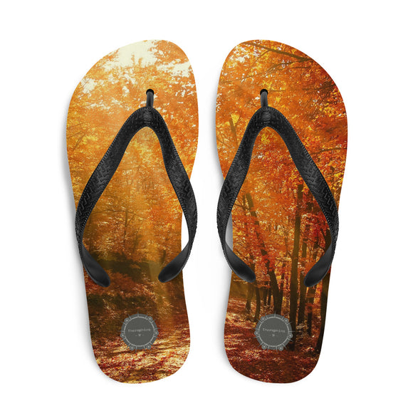 Forest Sunrays Theraphina Logo Flip-Flops