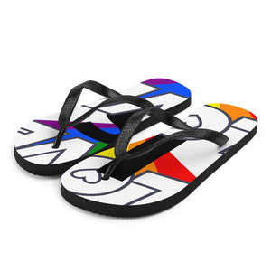 Love is Love Rainbow Pride - Wear & Share Your Love with Pride Flip-Flops