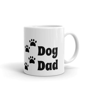 Dog Dad with Dog Paws Cute Mug for Dog Lover for Him