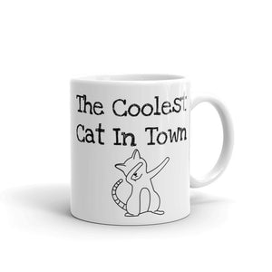 The Coolest Cat In Town Cat Dab Funny Gag Gift Dabbing Cat Sense of Humour Mug For Him or Her