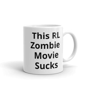 This RL Zombie Movie Sucks Funny Mug Gag Gift Make Them Laugh