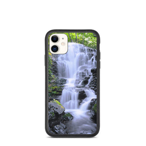 Waterfall Rocks Landscape Biodegradable phone case