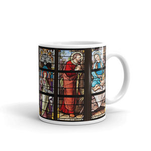 Take Me To Church Stained Glass Church Window Mug ColourArt Print
