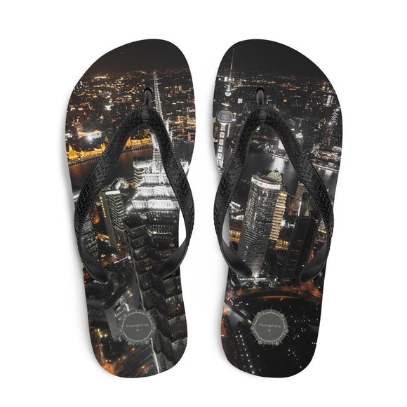 City Night Theraphina Logo Flip-Flops