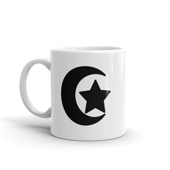 Moon & Star Art Print Mug