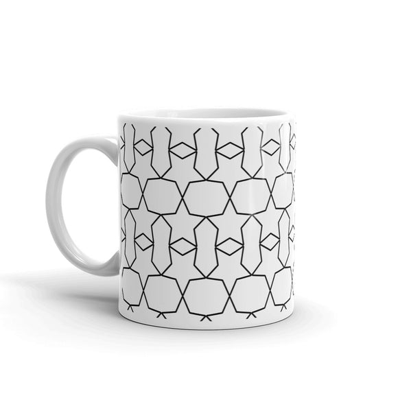 Star Reflection Black & White Pattern Design Gift For Dad, or Mom, Lover, Wife or Husband, Boyfriend or Girlfriend Mug For Him or Her