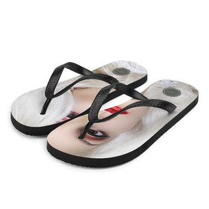 Hottie Close Up Theraphina Logo Flip-Flops