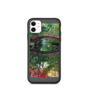 Bridge with Red Fish Landscape Biodegradable phone case