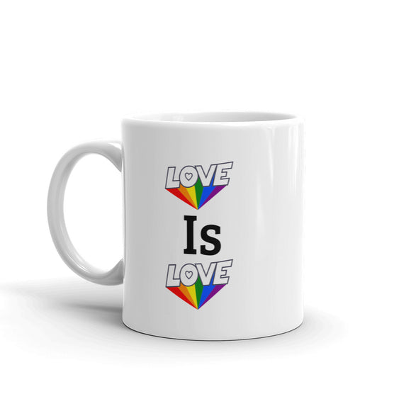 Love is Love Rainbow Pride Mug For Him or Her