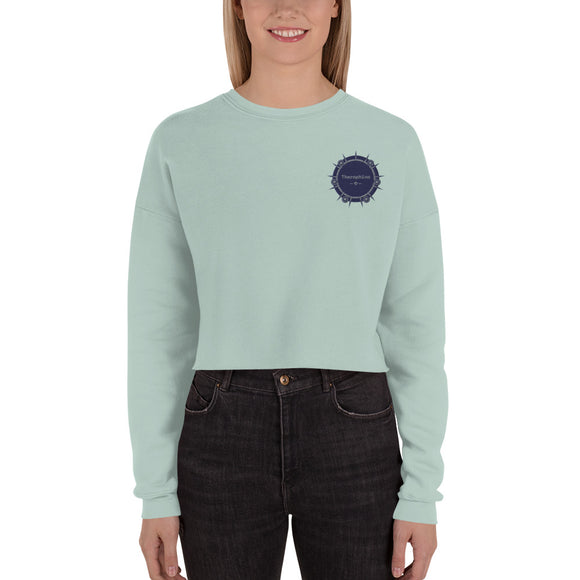 Theraphina Embroidered Logo Crop Sweatshirt