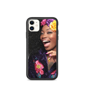 Beautiful Smile Flowers in Hair Biodegradable phone case