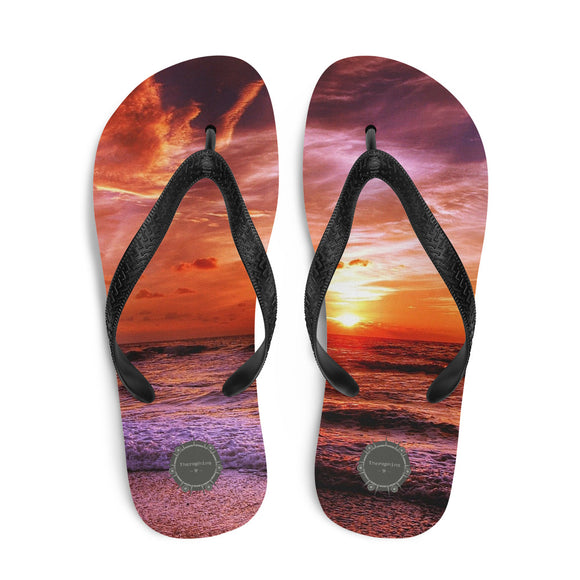 Sun Through Clouds Theraphina Logo Flip-Flops