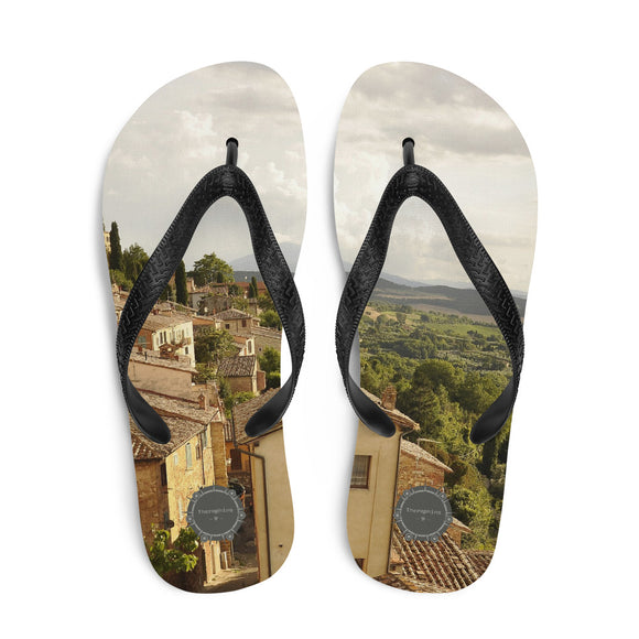 Italy View Theraphina Logo Flip-Flops