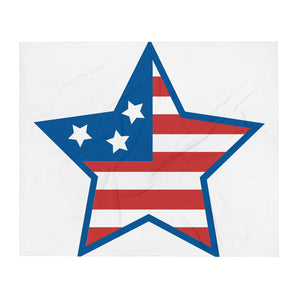 Red White & Blue Star Throw Blanket