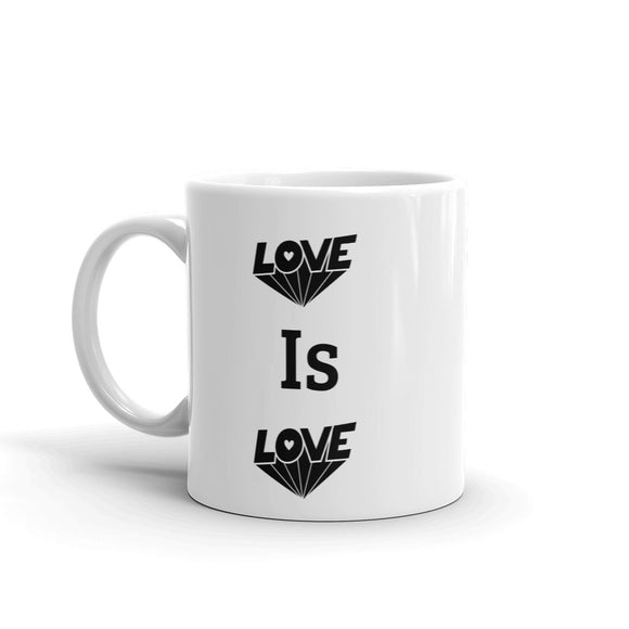 Love is Love Black Lettering Pride Mug For Him or Her