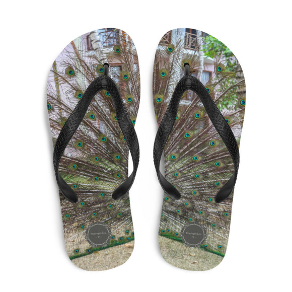 Peacock Theraphina Logo Flip-Flops