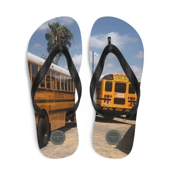 School Bus Theraphina Logo Flip-Flops