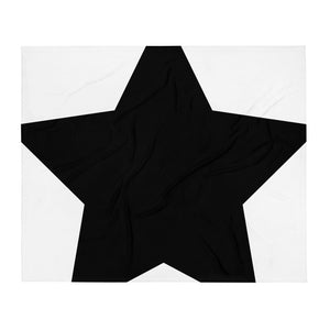Black & White Star Design Throw Blanket