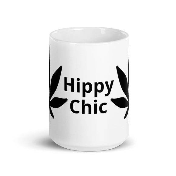 Hippy Chick Marijuana Leaf Design Mug Gift For Him or Her