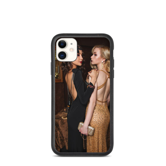 Two Lovely Young Ladies in Gowns Brunette & Blonde Biodegradable phone case