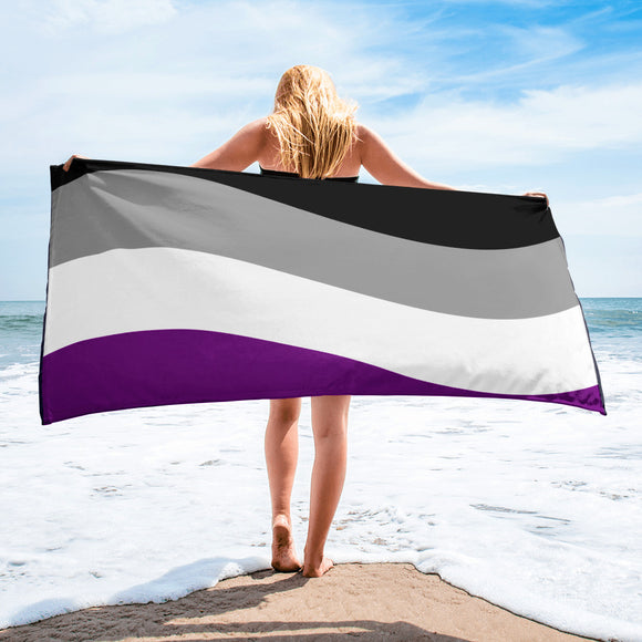 Asexual Pride Flag Beach Towel For Him or Her