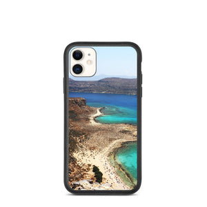 Aerial Island View Beach & Sky Biodegradable phone case