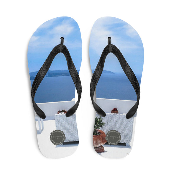 Greece Theraphina Logo Flip-Flops