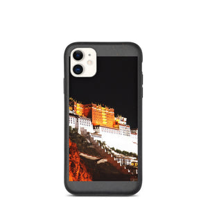 Tibet Landscape At Night Biodegradable phone case