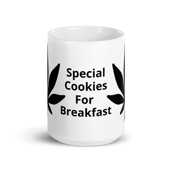 Special Cookies For Breakfast Marijuana Leaf Design Mug Gift For Him or Her