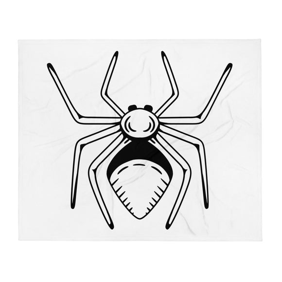 Giant Spider Design Halloween Throw Blanket