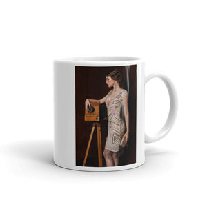 Vintage Gown Pretty Young Lady Mug Art Print