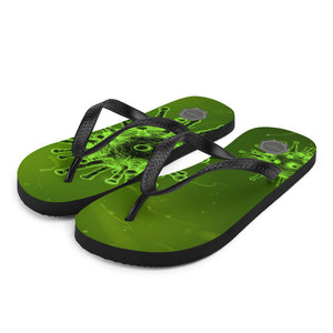 Virus Two Theraphina Logo Flip-Flops